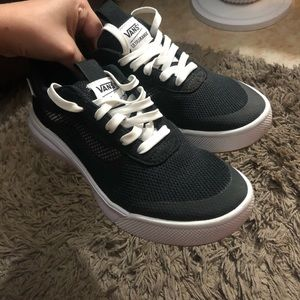 Black and white ultra Cush vans